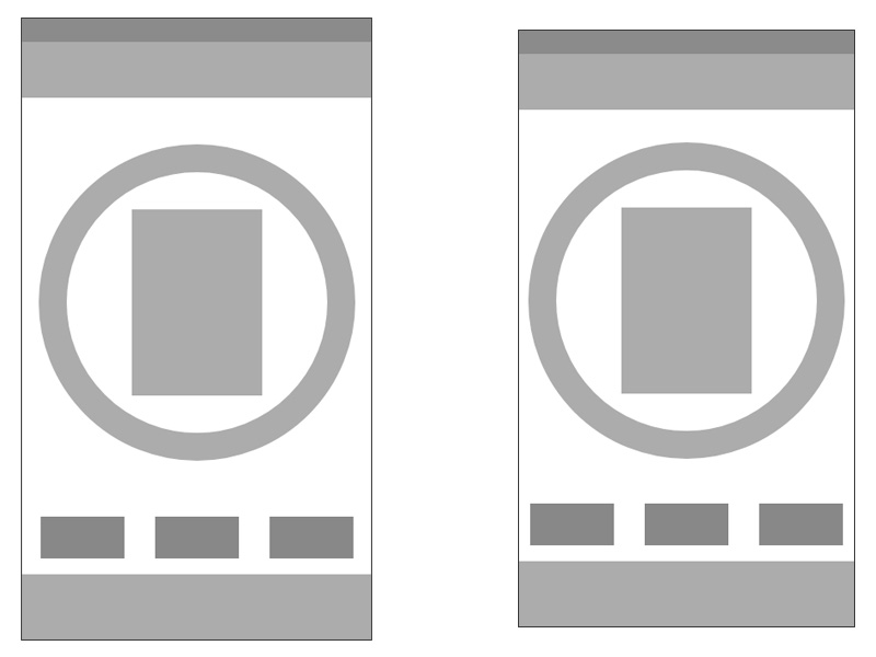 Wireframes for iPhone and Android