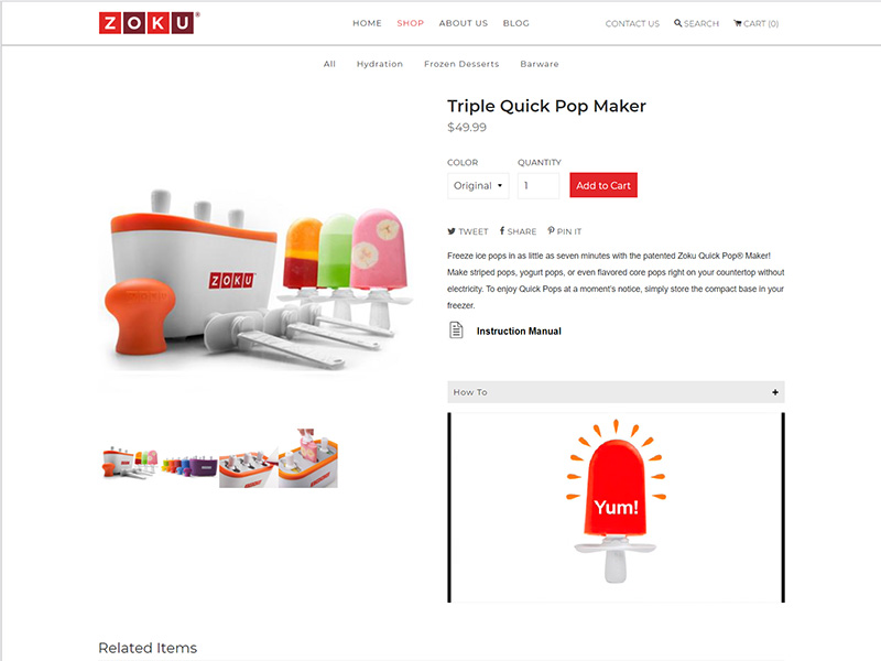 Zoku Home Product Page
