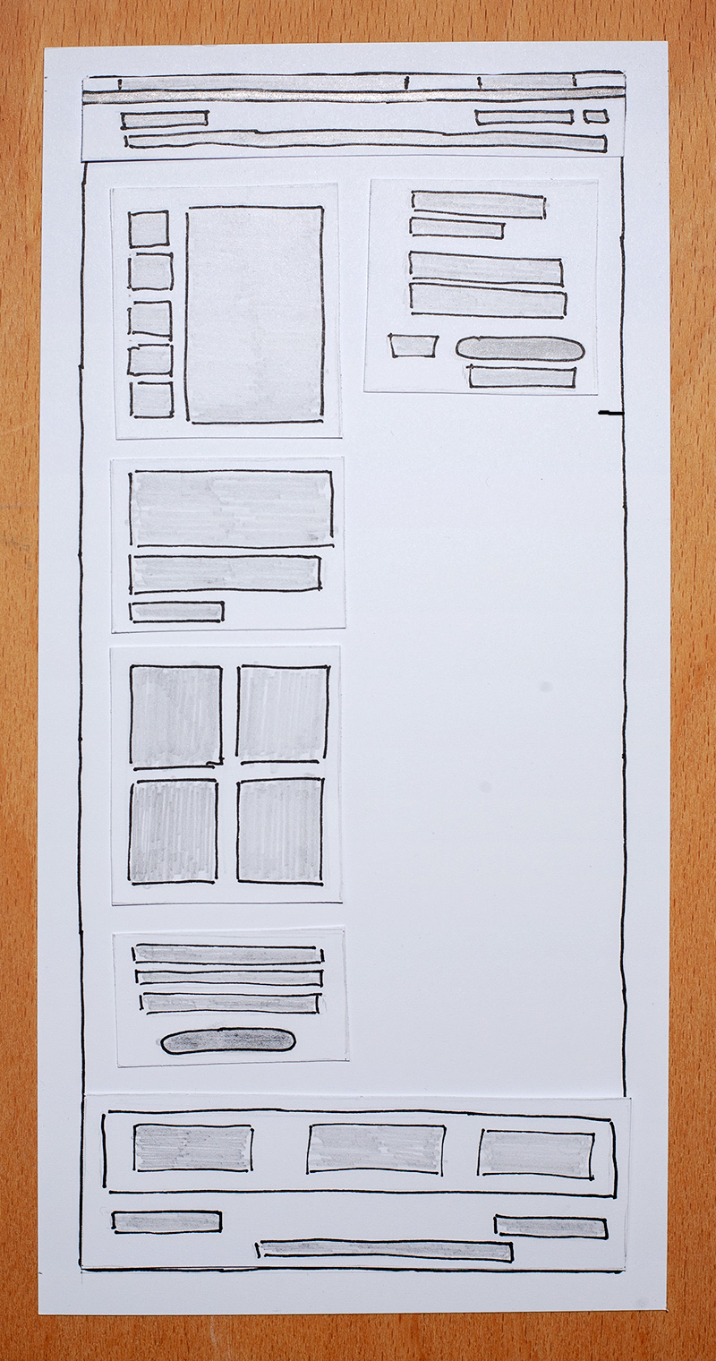 Page wireframe step 2 - Design Patterns