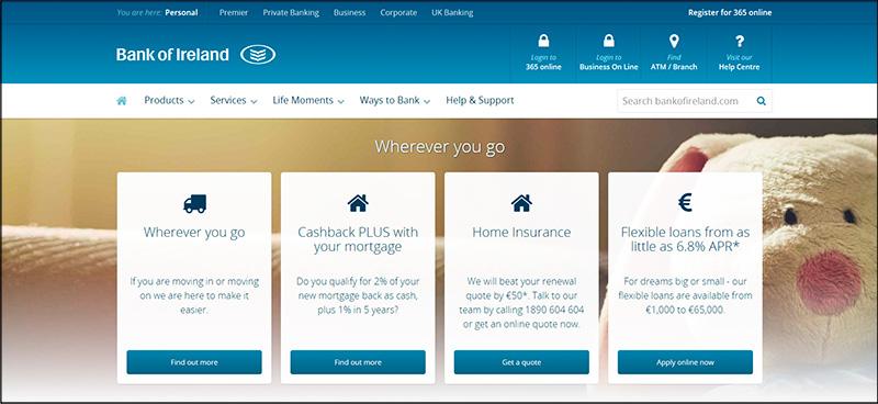 Digital Places Bank Homepage