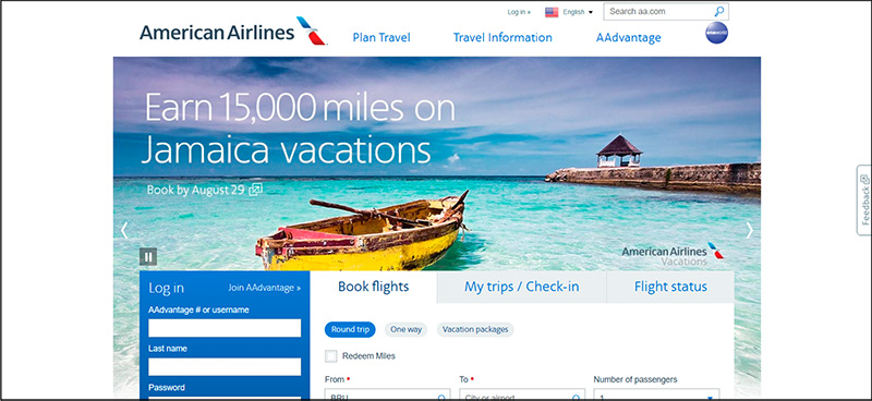 American Airlines Homepage