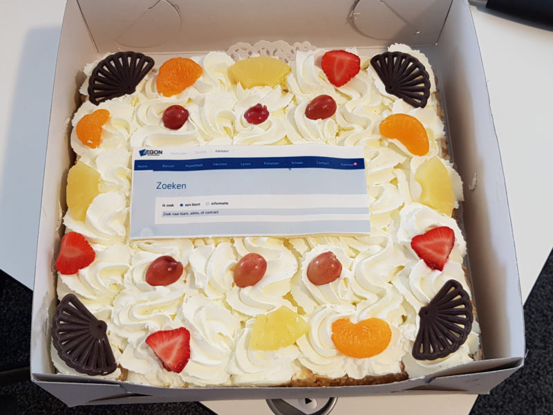The reward - a nice cake with a personal touch